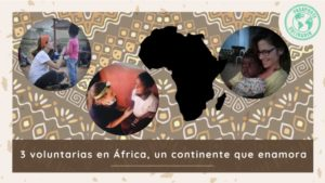 3 voluntarias en África