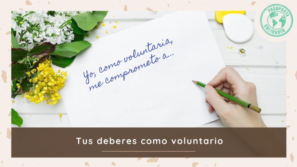 Deberes como voluntario