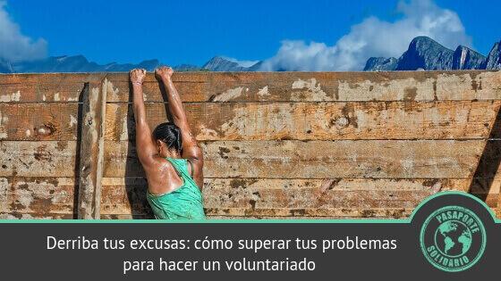 superar problemas para hacer un voluntariado